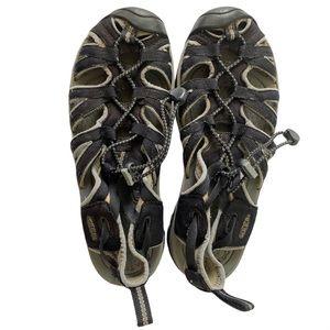 Keen Whisper Waterproof Sandals Size 8 Black Shoe
